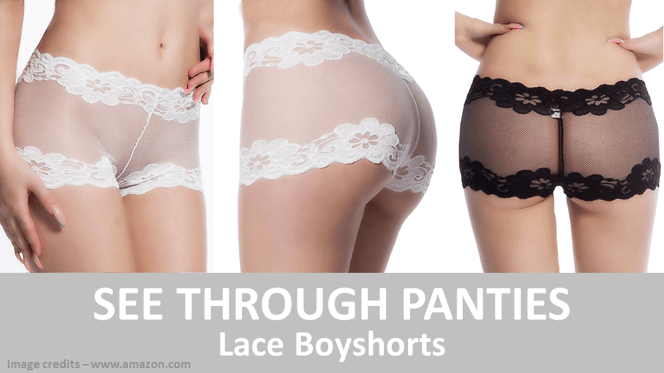 See Through Panties - Lace Boyshorts