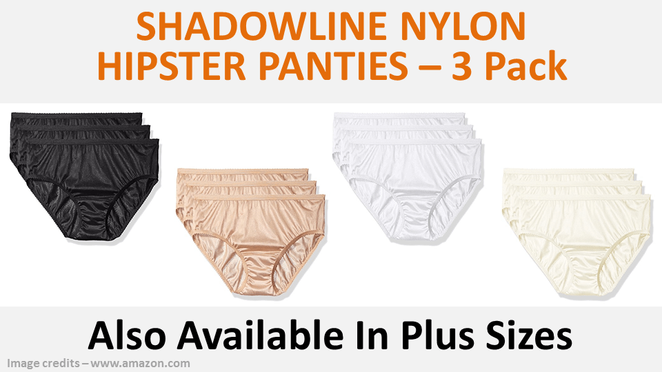 Shadowline Nylon Hipster Panties 3 Pack