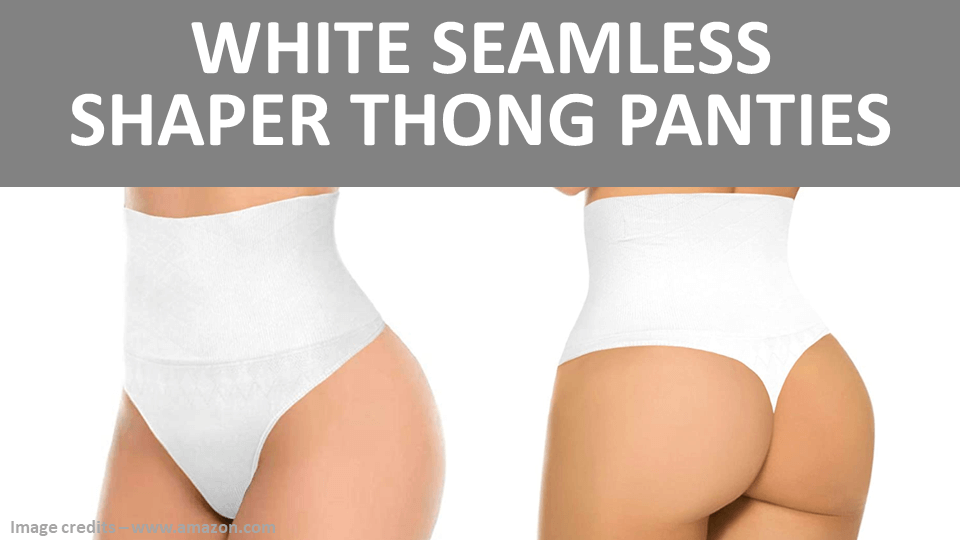 Shaper - White Seamless Shaper Thong Panties Image