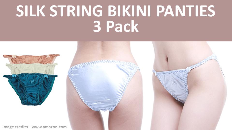 Silk String Bikini Panties 3 Pack