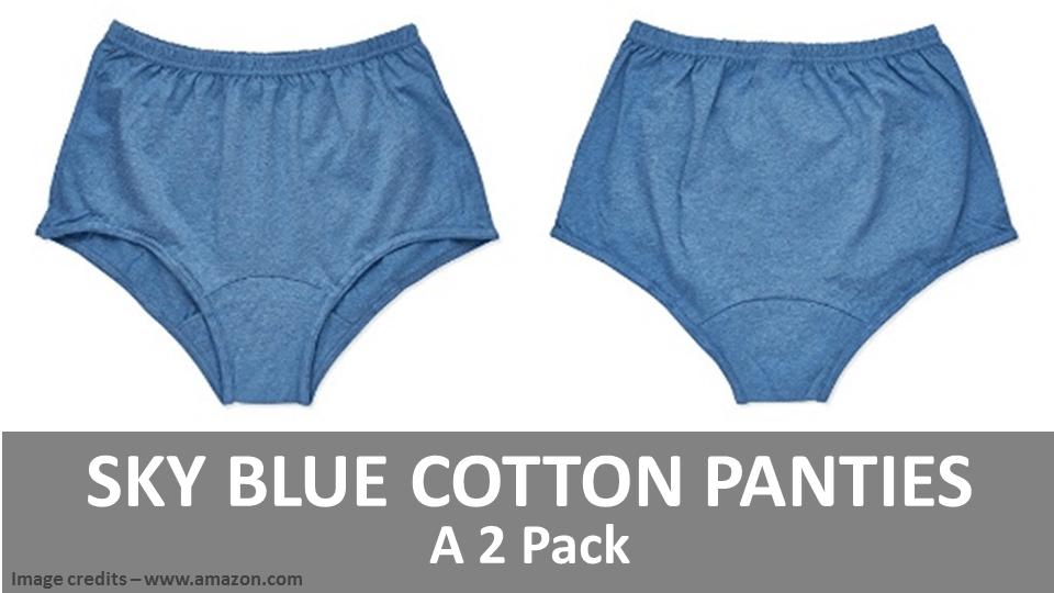 Sky Blue Cotton Panties