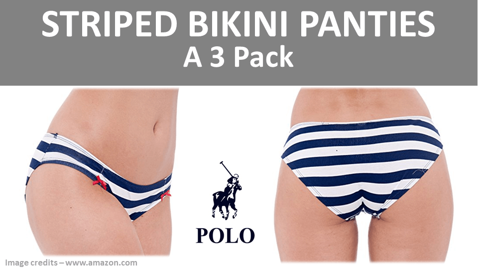 Striped Panties - 3 Pack By Polo