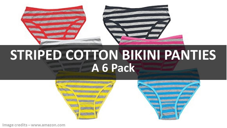 Striped Panties - 6 Pack By Javel