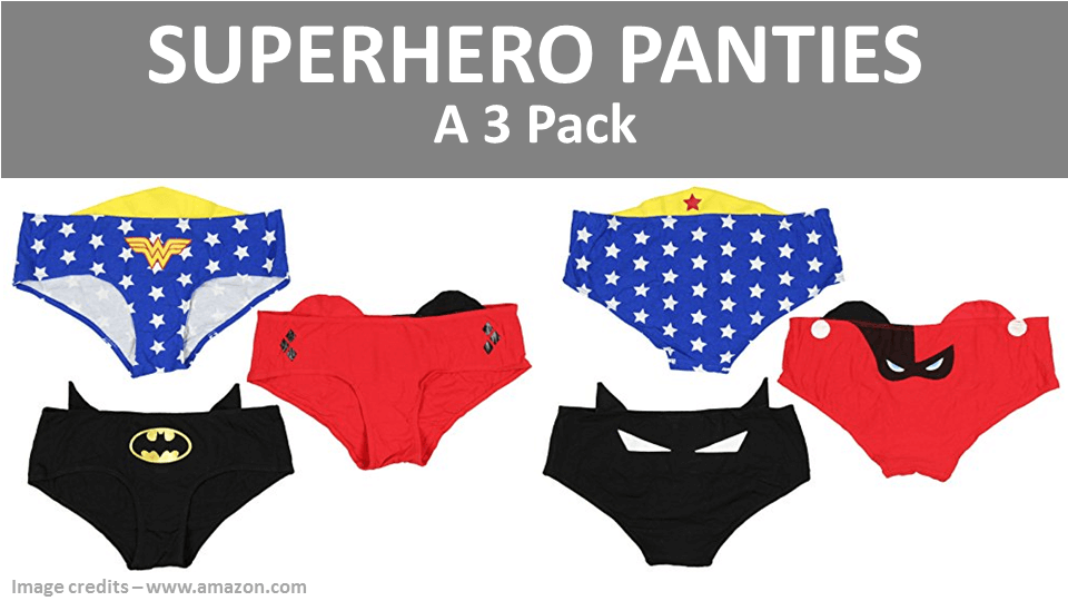 Superhero Panties Women