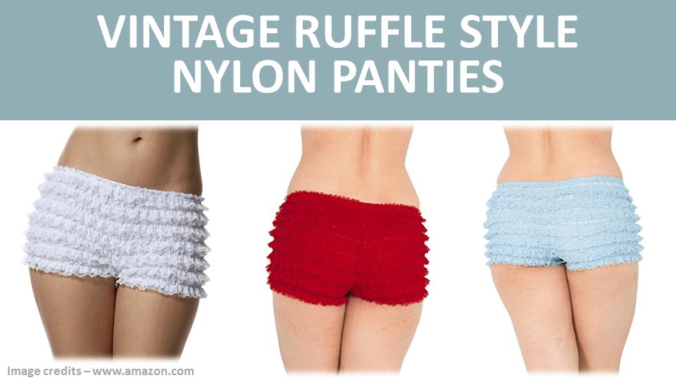 Vintage Ruffle Style Nylon Panties