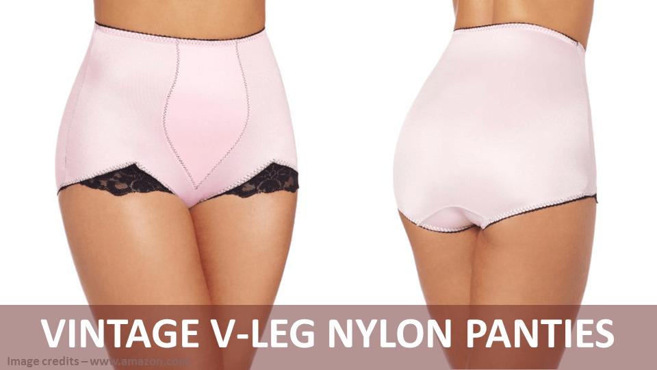 Vintage V-Leg Nylon Panties