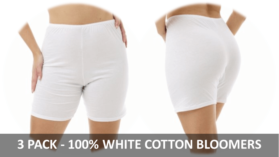 White Cotton Panties - 3 Pack Of Bloomers