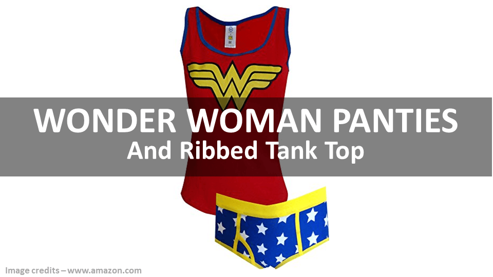 Wonder Woman Panties And Tank Top